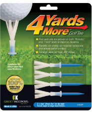 "GreenKeepers 4 Yards More 3 1/4"" Driver Tees - 4 pack"