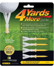 "GreenKeepers 4 Yards More 2 3/4"" Standard Tees - 4 pack"