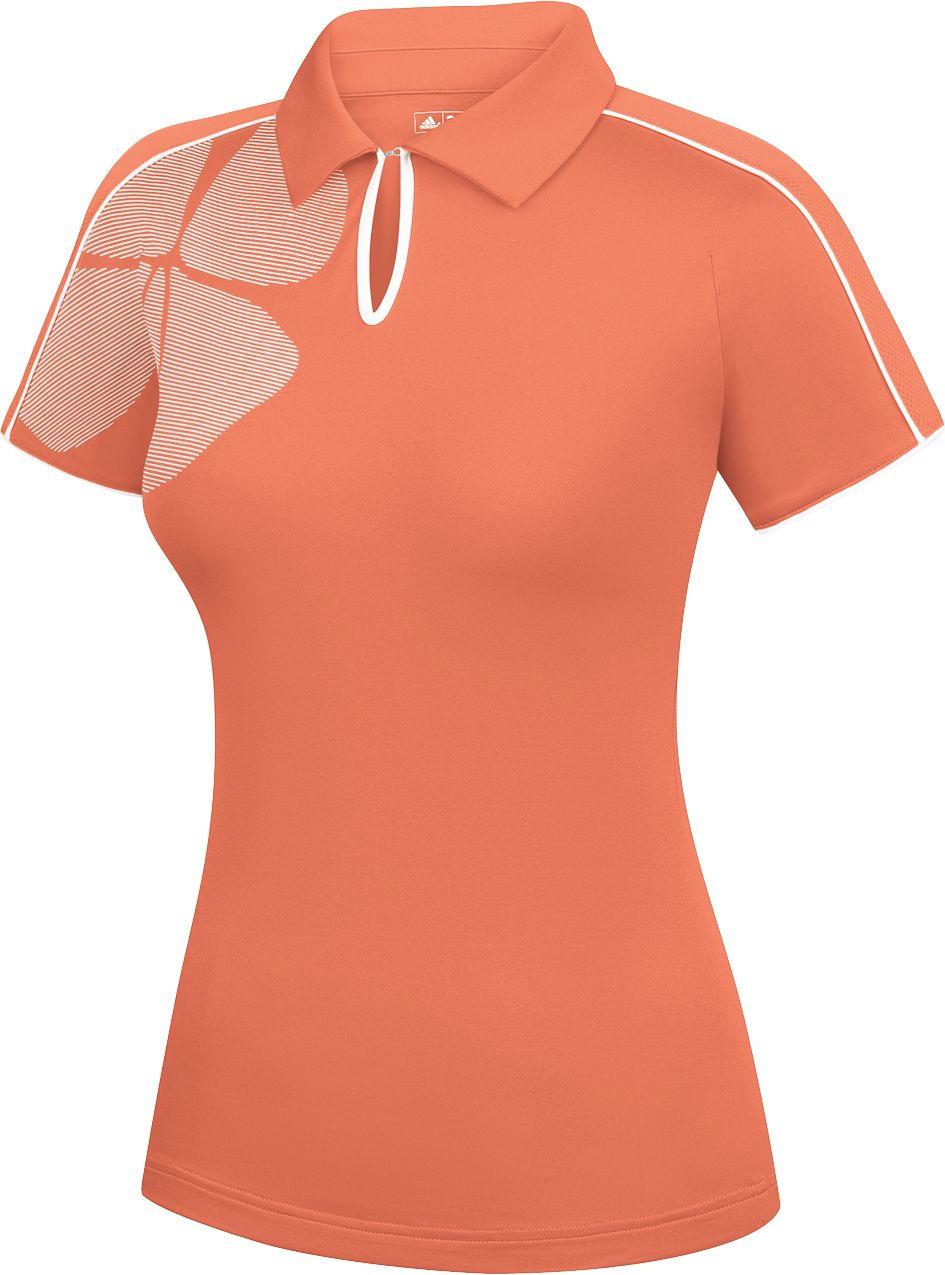 adidas Women's CLIMACOOL Ashbury Print Short Sleeve Polo