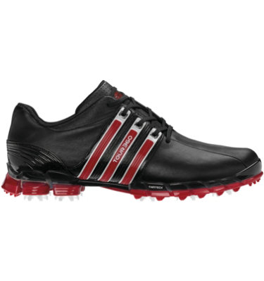 adidas Men's TOUR360 ATV Golf Shoe - Black/Cardinal