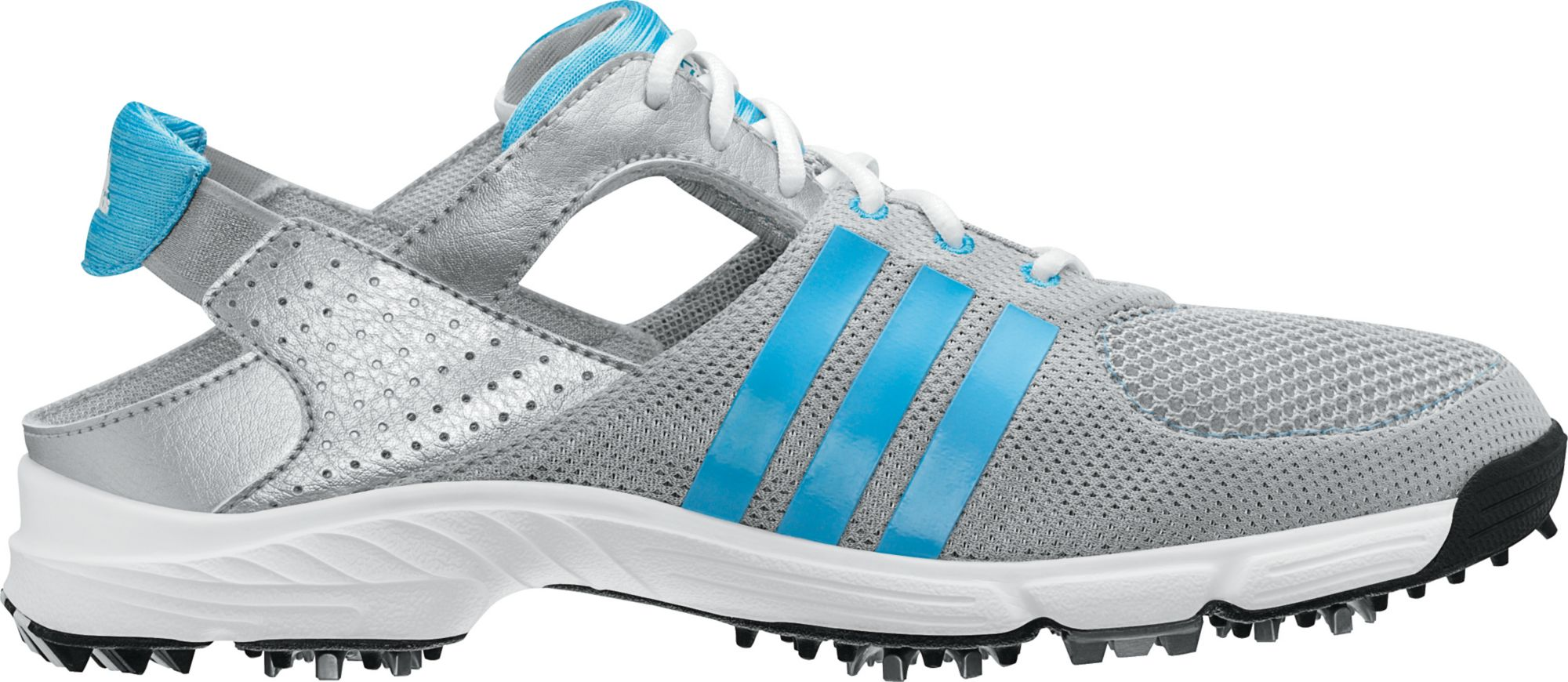 adidas Women's CLIMACOOL Slingback Golf Shoe - Metallic Silver/Cosmic Blue/White