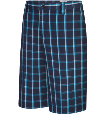 adidas Men's CLIMALITE Contrast Plaid Short