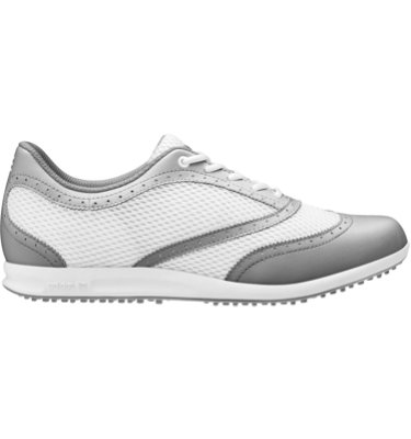 adidas Women's adicross classic Golf Shoe - White/Metallic Silver