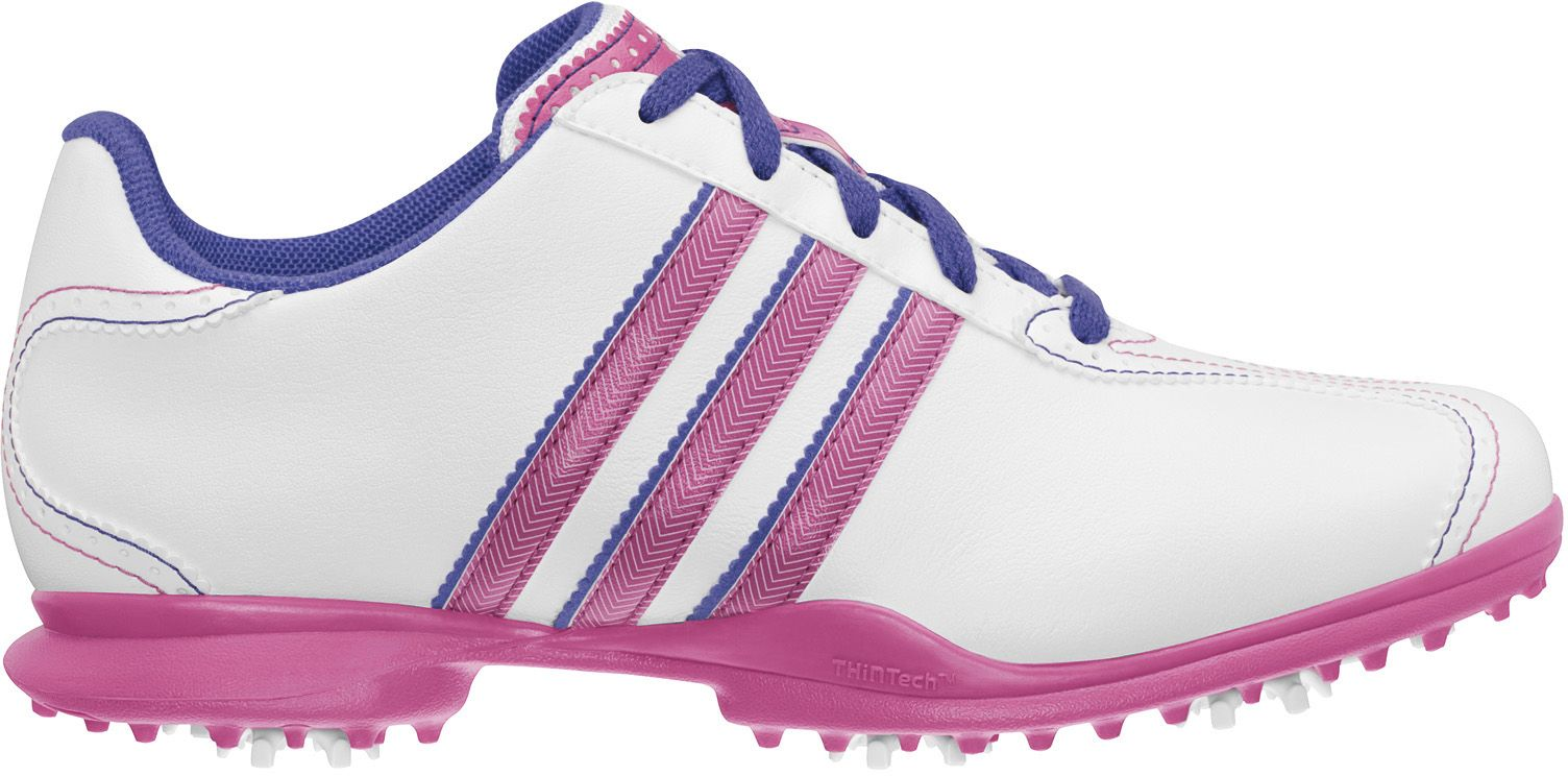 adidas Women's Driver May S Golf Shoe - White/Hibiscus/Violet