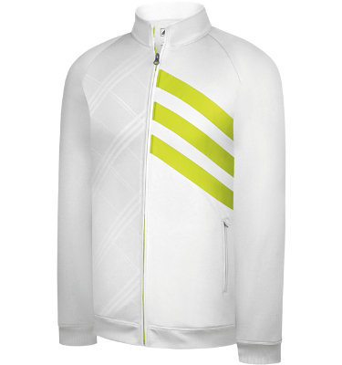 adidas Golf Men's Fashion Performance Full-Zip 3-Stripes Long Sleeve Jacket