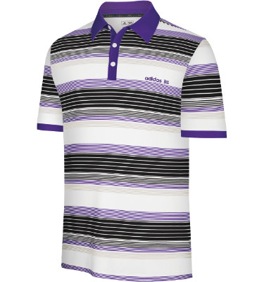 adidas Men's Fashion Performance Engineered Stripe Short Sleeve Polo