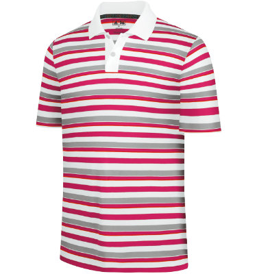 adidas Men's Rugby Stripe Short Sleeve Polo