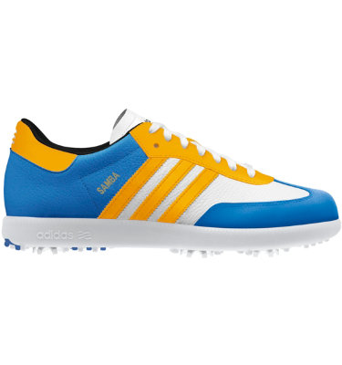 adidas Men's Limited Edition Samba Golf Shoe - Pool/Half Orange/White