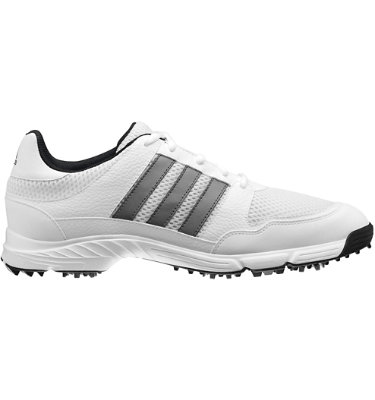 adidas Men's Tech Response 4.0 Golf Shoe - White/Dark Silver Metallic