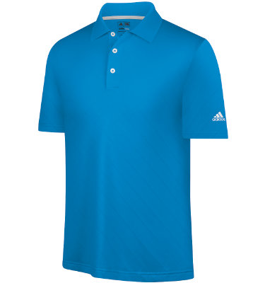 adidas Men's CLIMACOOL Argyle Textured Short Sleeve Polo
