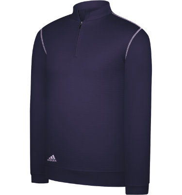 adidas Men's Contrast Textured ½-Zip Long Sleeve Pullover
