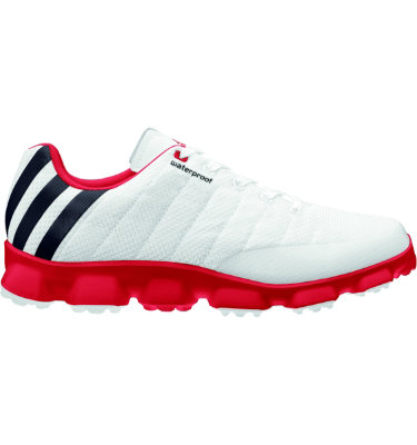adidas Men's crossflex Golf Shoe - White/Black/Red
