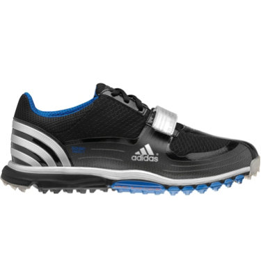 adidas Men's Traxion Lite FM 2.0 S Golf Shoe - Black/Metallic Silver/Satellite