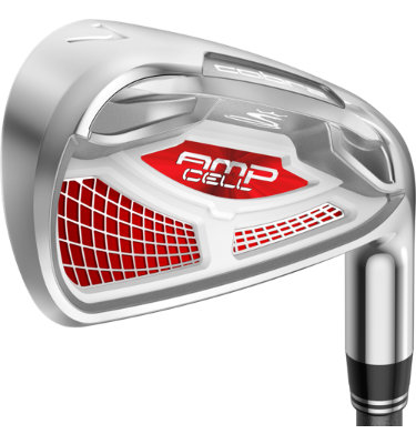 Cobra Men's AMP CELL Red Irons - (Graphite) 4-GW