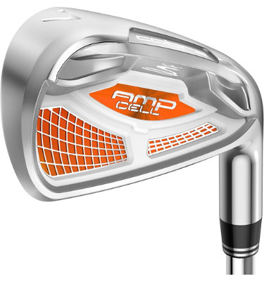 Cobra Men's AMP CELL Orange Irons - (Steel) 4-GW
