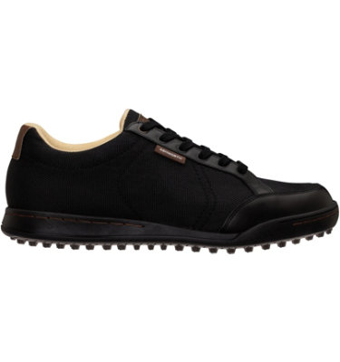Ashworth Men's Cardiff Spikeless Golf Shoe - Black Canvas