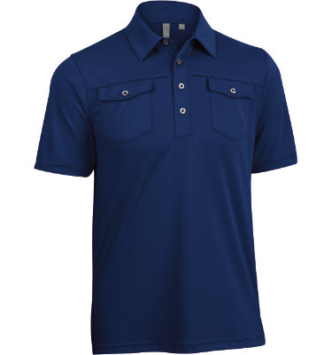 Ashworth Men's Performance Pocket Short Sleeve Polo