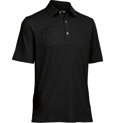 Ashworth Men's Mesh Back Pocket Short Sleeve Polo