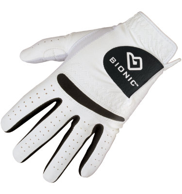 Bionic Men's RelaxGrip Golf Glove - White/Black