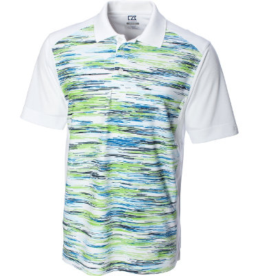 Cutter & Buck Men's CB DryTec Avalon Print Short Sleeve Polo