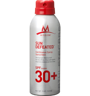 Mission Sun Defeated Continuous Spray Sunscreen - SPF 30