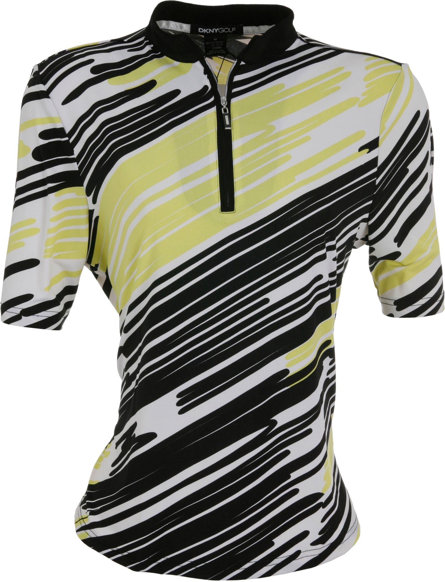DKNY Women's Abstract Pattern Citrine ½ Sleeve Shirt