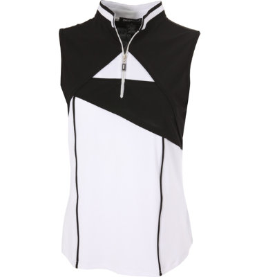 DKNY Women's Mt. Peak Ebony Sleeveless Polo