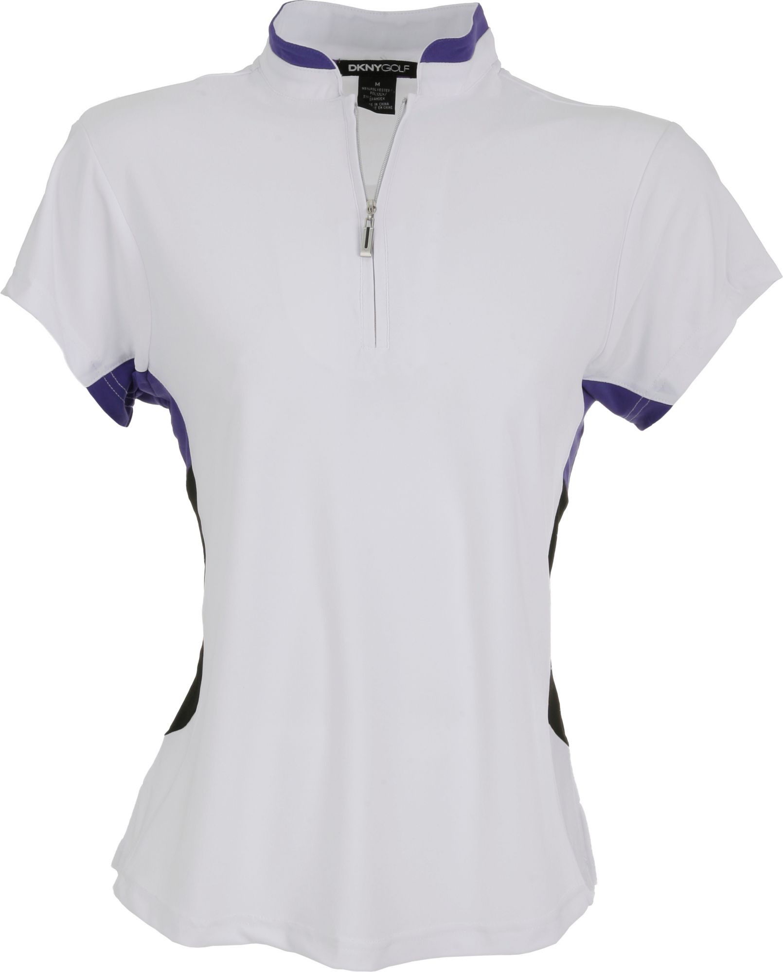 DKNY Women's Pure Based Zip Calypso Short Sleeve Polo