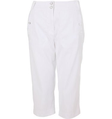 DKNY Women's Stretch Pure White Pedal Pusher