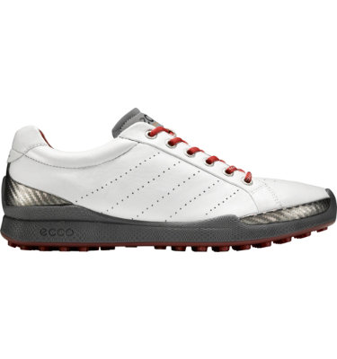 ECCO Men's BIOM Hybrid Golf Shoe - White/Brick