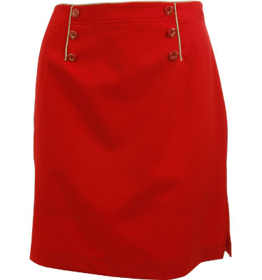 EP Pro Women's Gold Button Skort