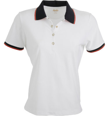EP Pro Women's Micro-Poly Snap Contrast Short Sleeve Polo