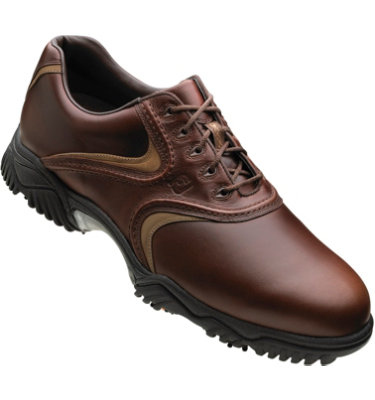 FootJoy Men's Contour Golf Shoe - Brown Waxy/Mocha Smooth Underlay