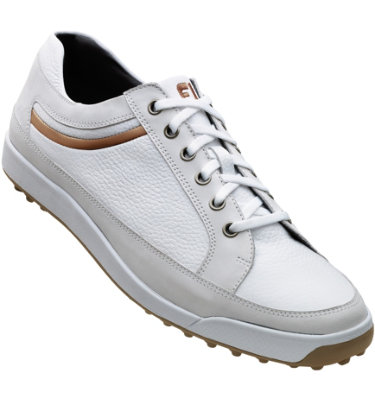 FootJoy Men's Contour Casual Golf Shoe - White/Taupe