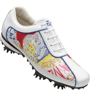 FootJoy Women's LoPro Golf Shoe - White Soft Milled/Graffiti