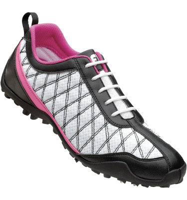 FootJoy Women's FJ Summer Series Spikeless Golf Shoe - White/Black/Pink
