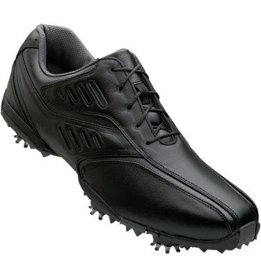 FootJoy Men's Street Golf Shoe – Black Smooth/Charcoal Textured Inlay (Disc Style 56485)