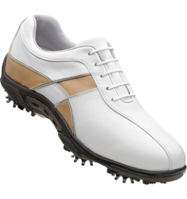 FootJoy Women's Summer Series Golf Shoe - White Smooth/Taupe Checkerboard