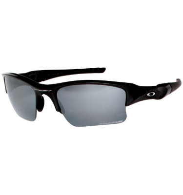 Oakley POLARIZED FLAK JACKET XLJ Sunglasses - Jet Black/Iridium Polarized