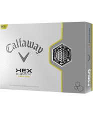 Callaway HEX Chrome Yellow Golf Balls - 12 pack