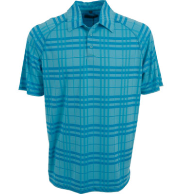 Hollas Men's Plaid Short Sleeve Polo