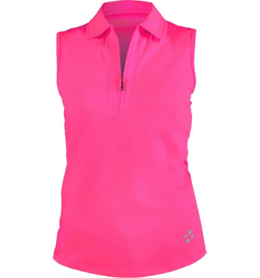 Jofit Club Women's Raspberry Jo Sleeveless Polo
