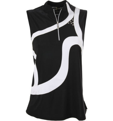 Jamie Sadock Women's Bold Line American Beauty Sleeveless Polo