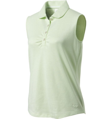 Lady Hagen Collection Women's Rouched Sleeveless Polo