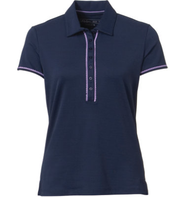Lady Hagen Women's Fresh Eyelet Short Sleeve Polo