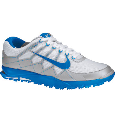 Nike Men's Air Range II Waterproof Golf Shoe - White/Photo Blue/Neutral Grey