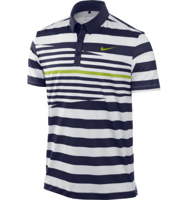Nike Sport Men's Multistripe Short Sleeve Polo