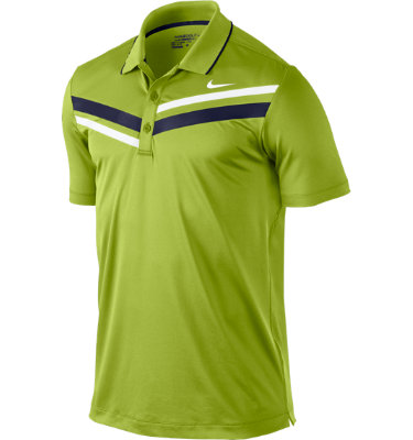 Nike Sport Men's Double Stripe Short Sleeve Polo