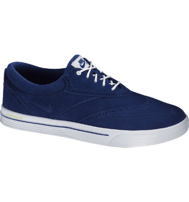 Nike Men's Lunar Swingtip Suede Golf Shoe - Midnight Navy/White/Volt
