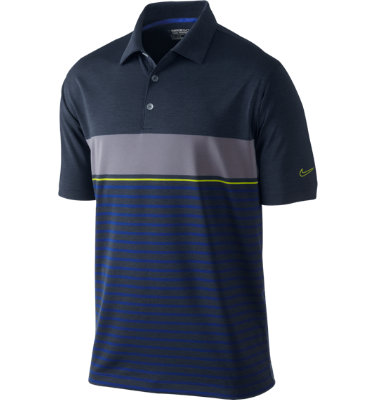 Nike Men's Bold Heather Stripe Short Sleeve Polo